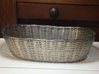 Antique Hand woven silver plate bread basket