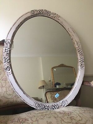 Real French Antique Mirror Shabby Chic Pastel Colour