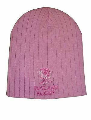England Rugby Pink Beanie Hat
