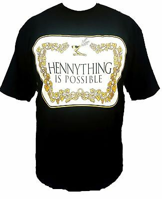 Hennything Is Possible Henny Mens Heavyweight T-Shirt Printed On Pro Club Tee