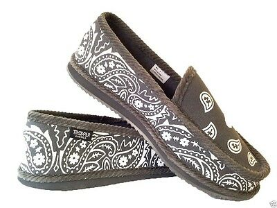 Grey Bandana House Shoes Slippers Trooper Brand New Size 7,8,9,10,11,12,13
