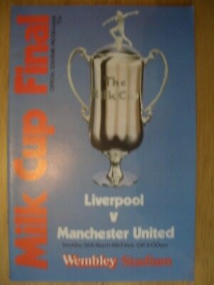 1983.....LIVERPOOL v MANCHESTER  UTD....Milk Cup Final @ Wembley.... Programme