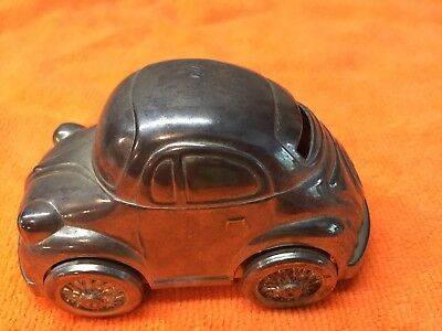 Vintage Volkswagen Vw Bug Original Metal Savings Piggy Bank