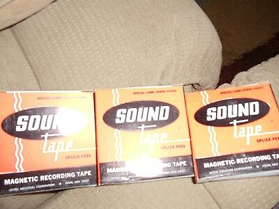 """Magnetic Recording Sound Tape, Splice Free #315P 3"""" Polyester 150' Reels"""