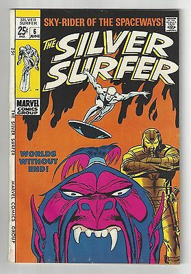 The Silver Surfer #6, 1969, Vf Condition Copy