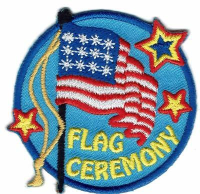 Girl Boy Cub FLAG CEREMONY Blue American Fun Patches Crests Badges SCOUT GUIDE