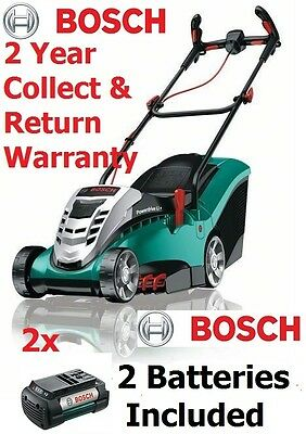 new-model Bosch Rotak 43 Li -2 Ergoflex Cordless Mower 06008A4571 3165140816717
