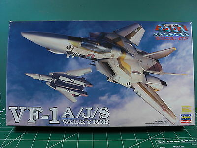 Macross*vf-1 A/j/s Valkyrie*hasegawa*1/72*from1984*unstarted*sealed Inside*l@@k