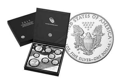 2017 Limited Edition Silver Proof Set with S Mint Proof Silver Eagle 17RC