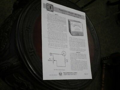 RCA WV-120A Power-line monitor Instruction manual