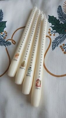 Personalised Christmas Advent Candle #back by popular demand!