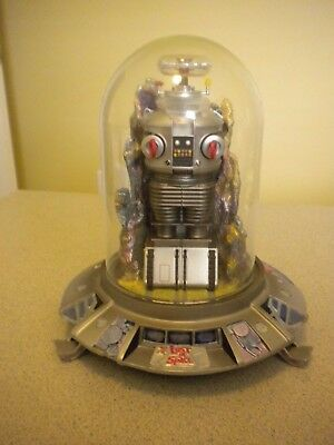 Franklin Mint Lost In Space Robot B9 Electronic Lights & Voice Statue (Rare) Nm