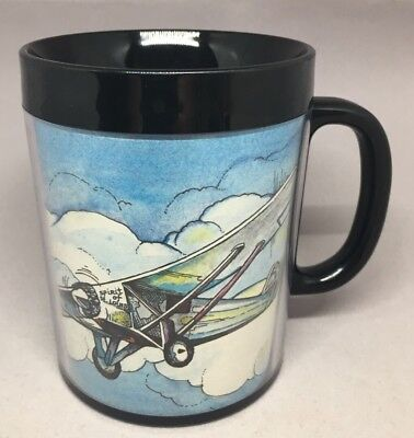 The Spirit Of St Louis Coffee Cup Charles Lindbergh black plastic mug