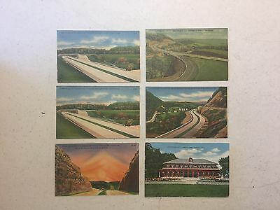 Vintage Lot Of 6 Postcards Locations Are Pennsylvania And Missouri.