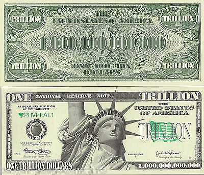 Lot Of 100 Trillion Dollar Bills Notes Unusual Toy Funny Money Novelty Gift