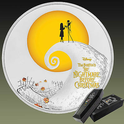 Tim Burton's The Nightmare Before Christmas 2017 Niue 1oz Silver Proof Coin