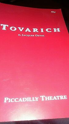 Theatre Programme. Tovarich. Piccadilly Theatre. 1991. Robert Powell.