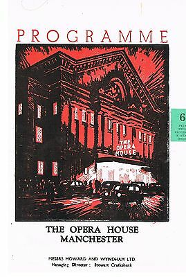 Theatre Programme. Under the Sycamore treeI. Opera house. Manchester. 1956.