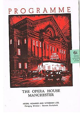 Theatre Programme. The Gates of summer. Opera house. Manchester. 1956.
