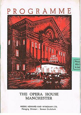 Theatre Programme. His excellency. Opera house. Manchester. 1950.