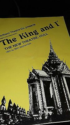 Theatre Programme. The King and I. Northern Theatre Company. 1981.