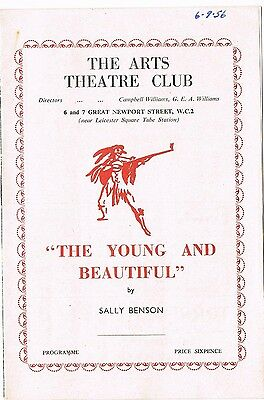 Theatre programme. The Young and Beautiful. 1956. Arts Theatre Club.