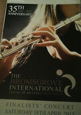 Theatre programme. Bromsgrove International Young Musicians Competition. 2015.