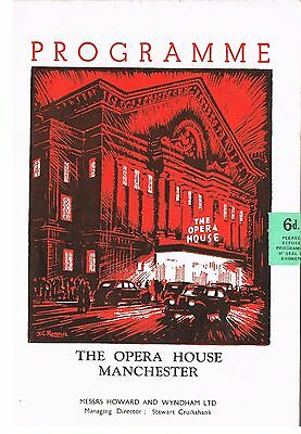 Theatre Programme. Someone Waiting. Opera house. Manchester. 1953.