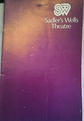 Theatre programme. Sadlers Wells Theatre. Operas. School for fathers. 1976