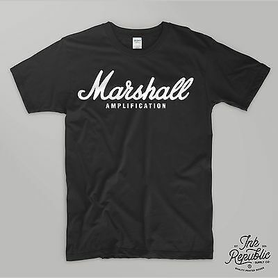 MARSHALL AMPLIFICATION T-SHIRT Tee Guitar Amp Stack Combo Rock Blackstar Gig