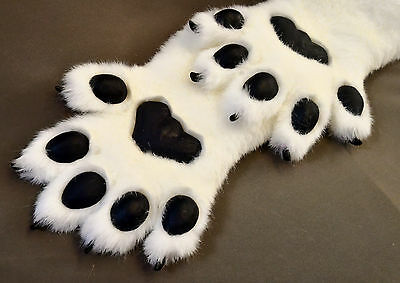 Fursuit Pawhands Paws Gloves Furry Faux Fur Handmade Silicone Pads