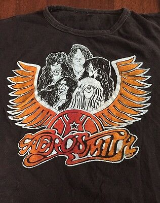 VTG Aerosmith Draw The Line T Shirt Concert Tour 70's Rock Metal Original Rare