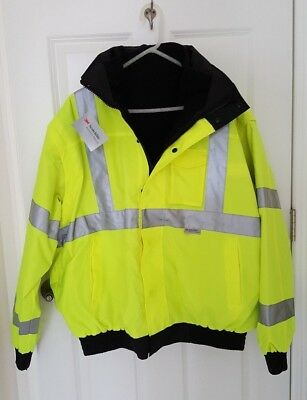 Occunomix Occulux Hi-Vis Insulated Safety Bomber Motorcycle Jacket XL