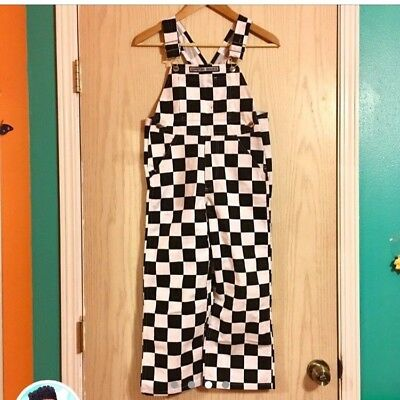 Childrens youth checkered overalls
