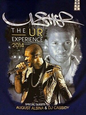 New - USHER - The UR Experience Tour 2014 - Concert T-Shirt - Size MEDIUM