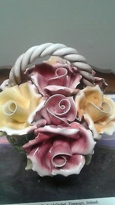 beautiful Capodimonte Porcelain Floral Roses Made in Italy