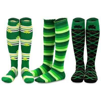 TeeHee St. Patricks Day Cotton Knee High Socks for Women 3-Pack