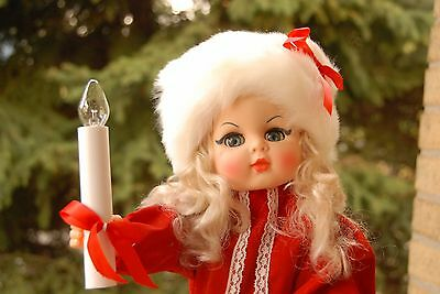 "Vintage 24""  Motionettes Lighted Christmas Doll"