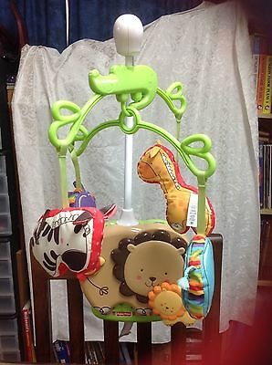 Fisher Price Luv U Zoo cot Mobile/music box baby toy