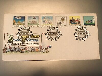 First Day Cover March 1988 Livining Togther