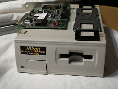 Nikon 35mm Film Slide Scanner LS1000 & SCSSI PCI Card and cables