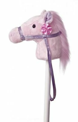 "Pink Fantasy Ride'em Stick Pony with Sound 37"" New"