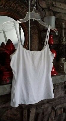 "New Victoria's Secret ""PINK"" Cami, White Seamless, Adjustable Straps, Size Small"