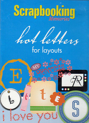 Scrapbooking Memories Hot Letters For Layouts CD-ROM New Sealed Crafts