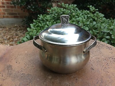 Vintage Stainless Steel Holloware Montery Pot w/ Lid - VGUC
