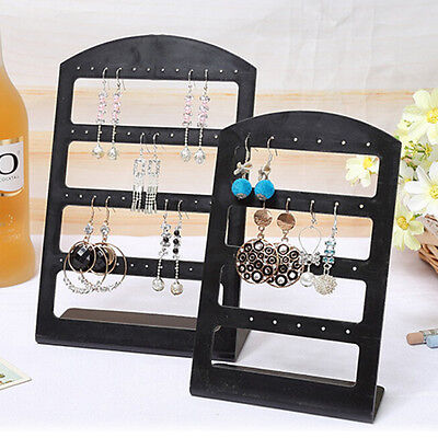 1X Earrings Ear Studs Display Rack Stand Jewelry Organizer Holder 24/48 Holes RS