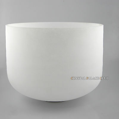 Frosted Quartz Crystal Singing Bowl sound therapy healing Note E ,11 Inch