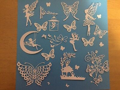 Scrapbooking Die Cuts 25 Butterfly & Fairy  Die Cuts