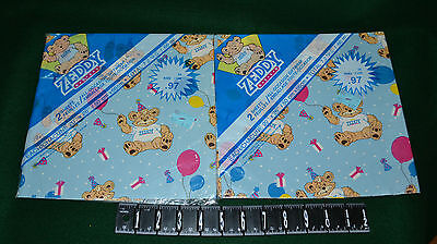 Vtg Zeddy Bear/zellers/gift Wrapping Paper/2 Packs/4 Sheets 20'' X 26''