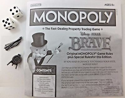 Brave Monopoly Tokens Game Replacement Parts Pawns Target Bow